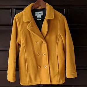 L.L.Bean thick winter peacoat, size S/6